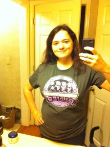 Recent photo, modeling a t-shirt sent to me by a friend.